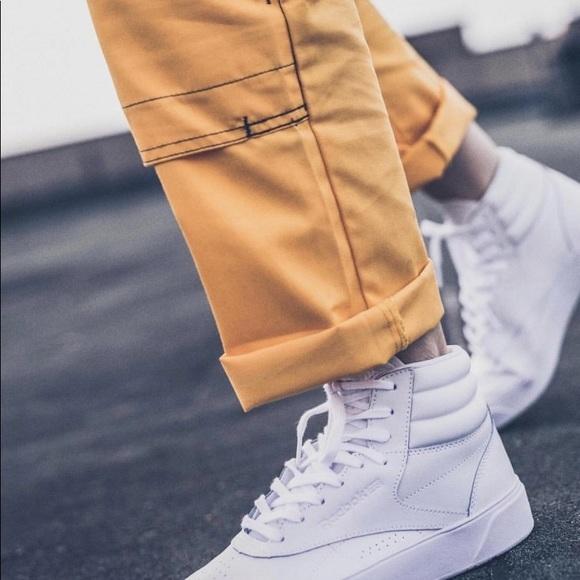 Reebok Freestyle Hi Nova Sneakers in White